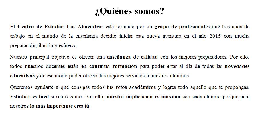 Centro de Estudios Los Almendros